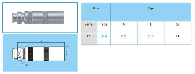 DCA,PCA.0S LEMO Connector Analogues Fixed socket, nut fixing
