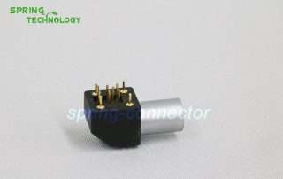 EPG.0B lemo compatible connector, Elbow (90°) socket for printed circuit,(solder or screw fixing)