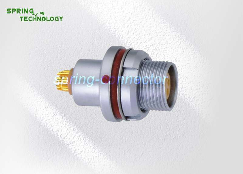 HEG.2B lemo connector analogues, nut fixing, watertight or vacuumtight