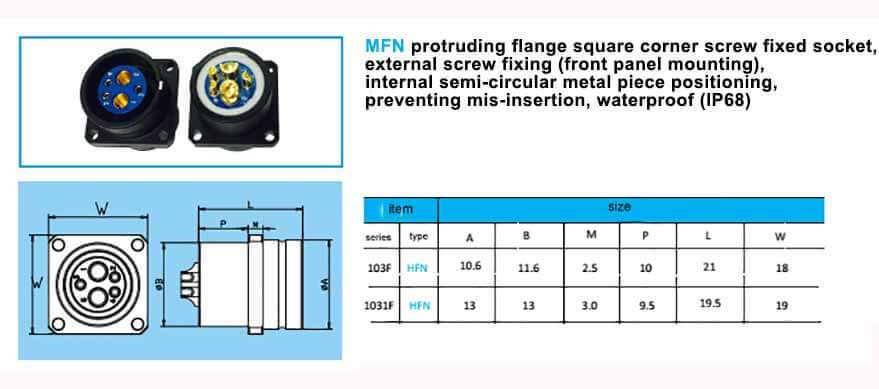MFN.1031F construction and size