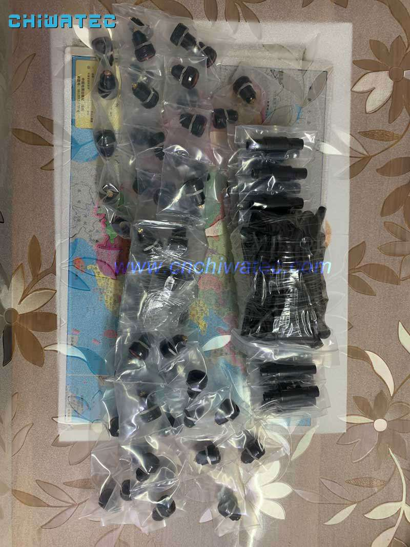 Plastic-push-pull-male-and-female-8-pin-connector-PAG.1P.308.CLAD42Z&PKG.1P.308.CLN-sent-to-India-via-DHL-express