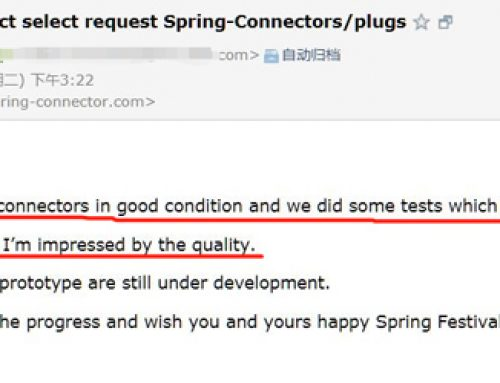 """""""The connector in good condistion,i am impressed by the quality"""" the comments from customer in Holland"""